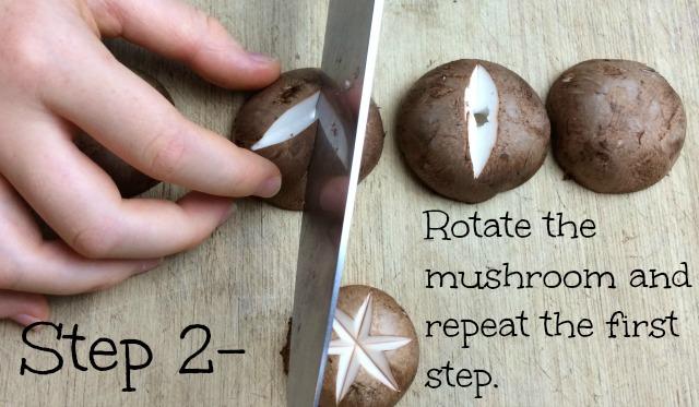 mushroom star step 2